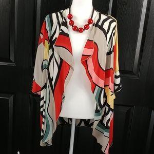 Hand Painted Colorful 100% Silk Kimono